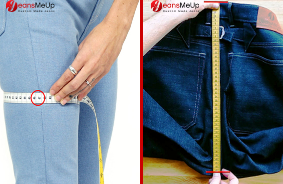 Masse für deine Mass Jeans